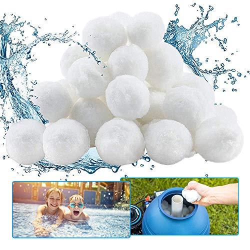 Pool Filterbälle, GEYUEYA Home 700g Pool Filter Balls Kann 25kg Filtersand Ersetzen, Filterpumpe Aquarium Sandfilter filterkugeln Geeignet für Pool Filter Schwimmbad Filteranlage,Poolreinigung Zubehör