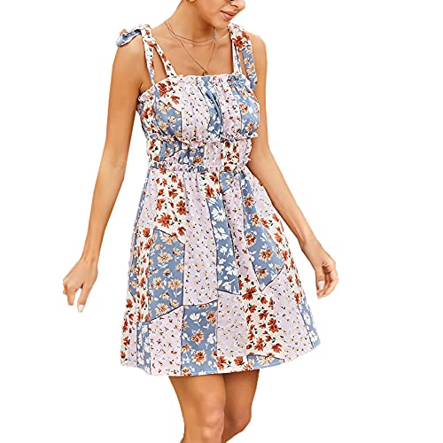 FrüHling Und Sommer Sling Tube Top Chiffon Print Rock Holz Ohren Plissee Taille Kleid Spitze Tube Top Kleid