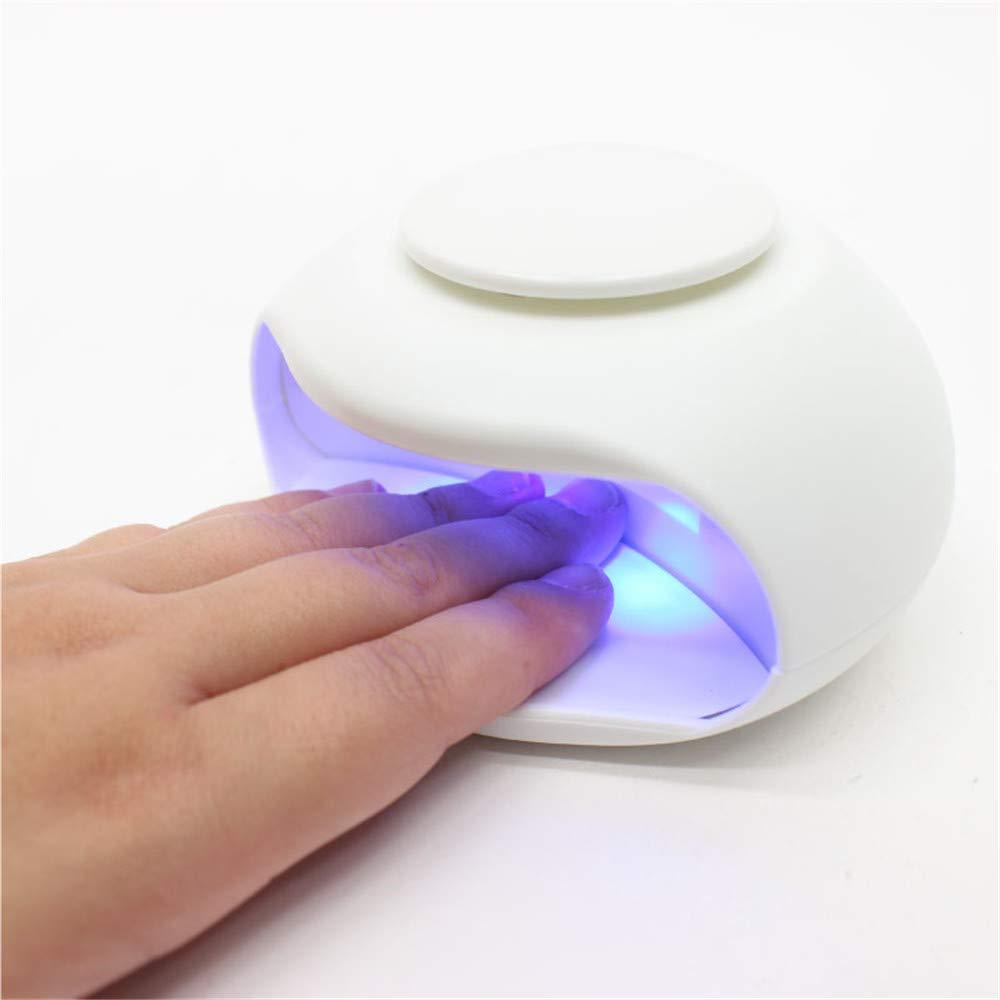 ミント再現する期間ネイルドライヤー 電池式 ledライト ネイルライト コンパクト 軽量 持ち運ぶ便利
