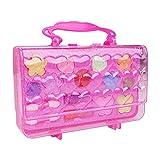 Banatree Kit de Maquillaje para niños para niña, portátil Todo en uno Princess Girl'S Pretend Toy Dressing Box Play House Toy Juego de Roles, Juego de cosméticos de Princesa no tóxico