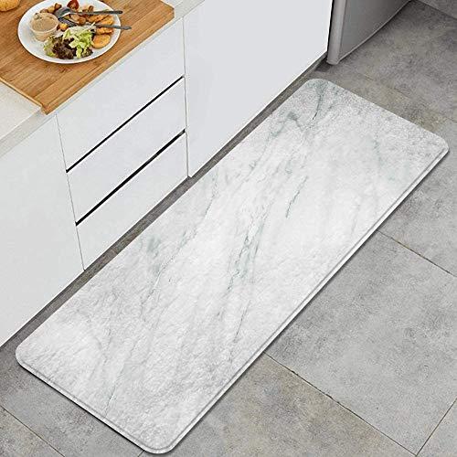LISNIANY Alfombras para Cocina Baño de Cocina Absorbente Alfombrilla,Impresión de Suelo monocromática teñida de mármol,para Dormitorio Baño Antideslizantes Lavables