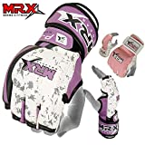 MRX BOXING & FITNESS MMA Ladies Grappling Training Gloves Cage Women Fighting Sparring Gloves Purple (Medium)