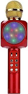 DKee Teléfono Canción K Ktv Micrófono Micrófono Condensador De Micrófono Inalámbrico Bluetooth 26 * 5cm (Color : Red)