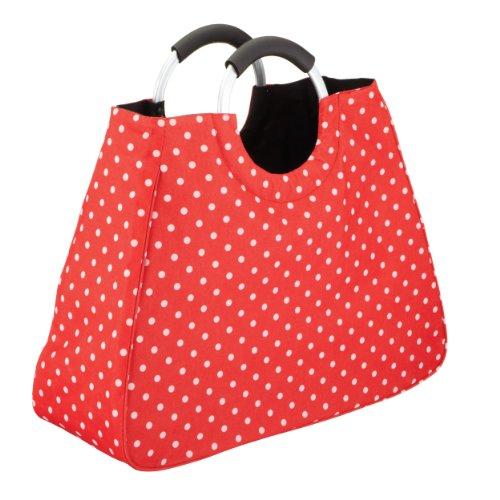 Cool Movers Kitchen Craft 17 Liter Wiederverwendbare Einkaufstasche, Rot mit weißen Punkten