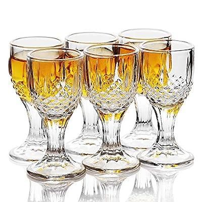 HOMEYUT Mini Size 12ml 0.38oz Chinese Liquor Shot Glass Set of 6 - Perfect for Spirits