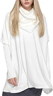 Women's Oversized Turtleneck Pullover Batwing Long Sleeve Irregular Baggy Sweater