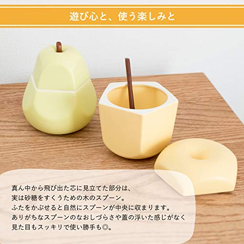 ttyokzkceramicdesignpomme&poireシュガーポット調味料入れpommeりんご(王林)