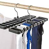 Liumei 10 Schlitze Krawattenhalter für Schal und Schal aus stabilem