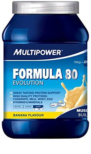Multipower Formula 80 Evolution, Banana, 750 g