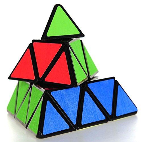 Coolzon® Dreieck-Pyramide Pyraminx Magic Cube Geschwindigkeit Puzzle Twist Spielzeug-Spiel Bildung, Schwarz
