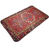 Outdoor Indoor Doormat Iran Persian Oriental Iranian Ethnic Welcome Non Slip Doormats Door Mats Floor Mat Home Carpets Rug For Entrance Front Door Kitchen Bedroom Garden Bathroom 19.5 X 31.5 Inch