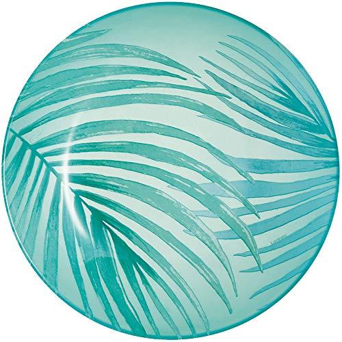 Luminarc Crazifolia - Plato Hondo (20 cm, 1 Unidad), Color Azul y Verde