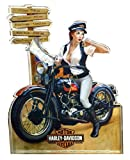 Harley-Davidson Crossroads Pin Up Lady Magnet, Hard Sided, 4 x 3 inches 8003876