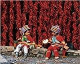 Zeigt 24x 30cm Kinder von Rasse Yi, Yunnan, China/Yi