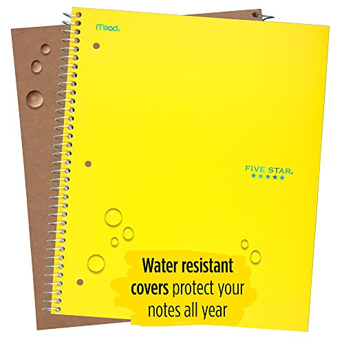 """Five Star Spiral Notebook, 1 Subject, College Ruled Paper, 100 Sheets, 11"""" x 8-1/2"""", Yellow (73475) Photo #6"""