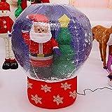 SZ Hinchable Bola Papanoel - árbol Navidad con Nieve 90CM