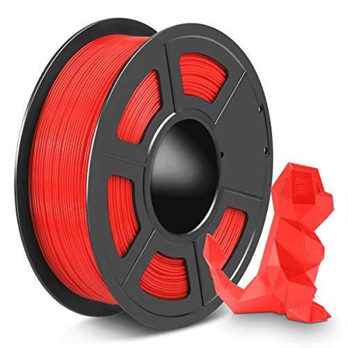 Filamento Stampante 3D SPLA 1,75 mm, Filamento PLA Filamento 3D PETG si Mescolano Insieme, SPLA Lucido 1,75 Rosso 1 KG