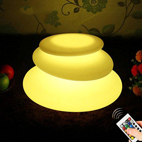 Augrous Led-vloerlampen, 16 kleuren, met afstandsbediening, waterdicht, oplaadbaar, nachtlampje, 3 poten voor de tuin, terras
