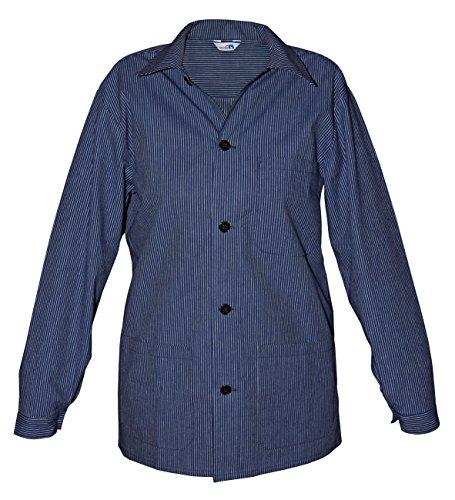 modAS Damen Herren Küferbluse Winzerhemd ganze Knopfleiste, Größe:Herren 42 und Damen 36