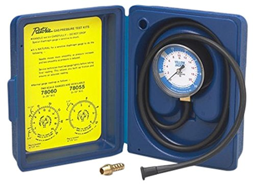 """YELLOW JACKET 78060 Complete Gas Pressure Test Kit, 0-35""""Wc"""