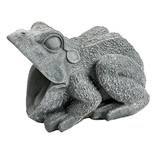 Design Toscano QM7512081  Frog Gutter Guardian Downspout Sculpture,Grey Stone