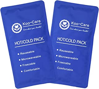 Koo-Care Flexible Gel Ice Pack for Hot Cold Therapy - Set of 2 - Great for Migraine Relief, Sprains, Muscle Pain, Bruises,...