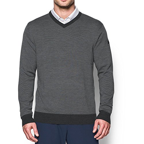 Under Armour UA Feeder Stripe V-Neck Sweater XL Carbon Heather