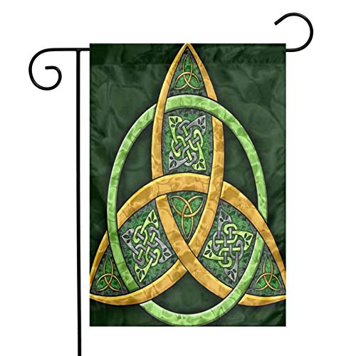 XIOJEIEY American Flags Celtic Trinity Knot - Irish Garden Flag Double Sided for Garden Yard Outdoor Decorative 12 X 18 Inch