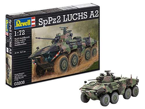 Revell Modellbausatz Panzer 1:72 - SpPz 2 LUCHS A2 im Maßstab 1:72, Level 4, originalgetreue Nachbildung mit vielen Details, 03208