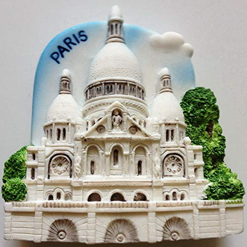 Sacre Coeur Church París resina de alta calidad 3d imán de nevera nevera tailandés hecho a mano Craft.