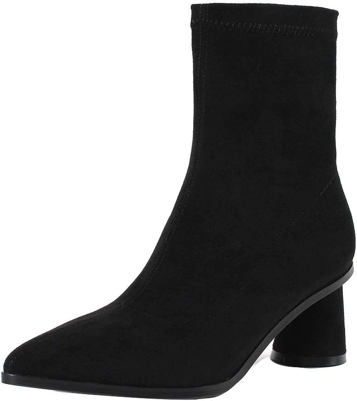 MAYPIE Womens Toaboar Suede Zipper Mid-Calf Boots