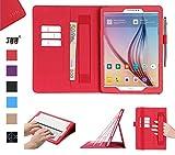 Hülle für Samsung Galaxy Tab S2 9.7, Flip Tasche Schutzhülle für Galaxy Tab S2 9.7,mit Auto Sleep Wake up/Standfunktion,Brieftasche Schutzhülle Leder Hüllen für Samsung Galaxy S2/Galaxy case Rot