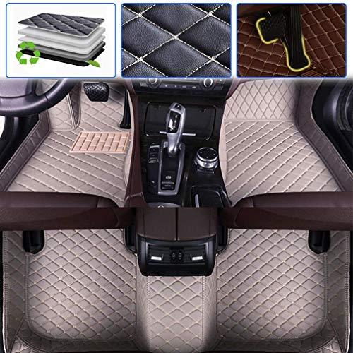 Gengcan Auto Fußmatten Leder fürKIA Sorento 2003-2008 2004 2005 2006 2007 Grau Stichen, Autofussmatten Allwettermatten Custom Fit Wasserdicht