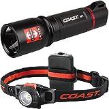 kraftmax Coast HP7 LED Taschenlampe + HL7 LED Stirnlampe/Kopflampe edition Kompipack