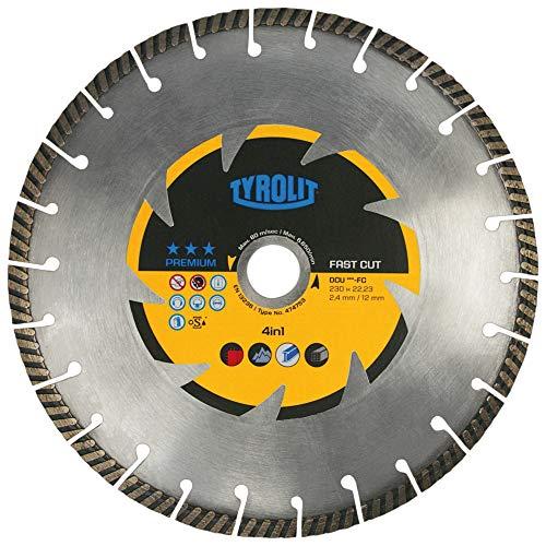 Tyrolit 474753 Diamant-Trennscheibe Premium DCU, Fast Cut, FC, 230 mm x 2.4 mm/12 mm