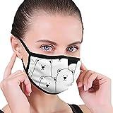 Cartoon White Bear マスク 人気 個包装 超快適 メンズ レディース ファッションマスク 水洗い可能 洗えるマスク
