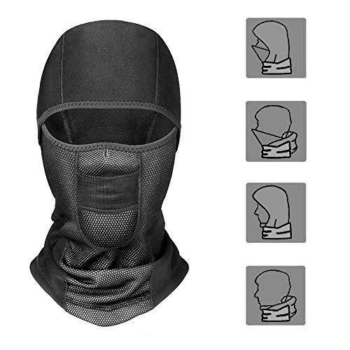 HAPPYX Pasamontañas Balaclava Máscara Impermeable Prueba de Viento Elásticos para Esquí, Moto, Ciclismo, Escalada, Caza, Al Aire Libre