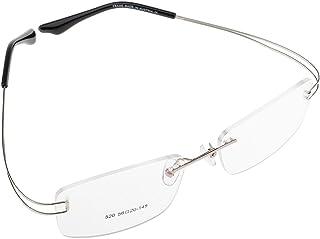 randlose Brillengestelle whynot rahmenlose Brille mit individueller Sehst/ärke kristall 1, Gl/äser mit Vollentspiegelung + H/ärtung Brillenetui
