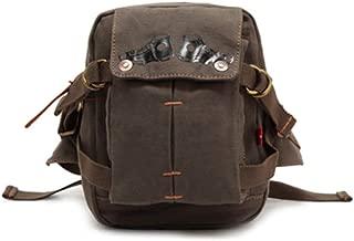 Mens Bag Fashian One-shoulder Slanting Waist Pocket Canvas Sandwich Zipper Bag Bag Male High capacity