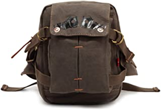Mens Bag Fashian One-shoulder Slanting Waist Pocket Canvas Sandwich Zipper Bag Bag Male High capacity