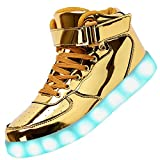 6. Odema Unisex High Top LED Shoes
