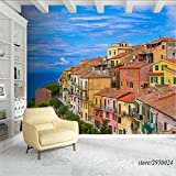 450x310cmHD Wandbilder, Tapeten Anpassen Wandbilder Landschaft Italien Meer 3d Tapeten Wasserdicht TV Hintergrund Wohnwand Moderne Fotokunst Dekoration Raumdruck Poster