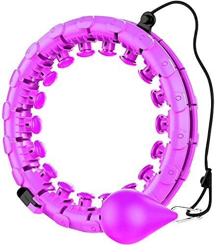 XIAO-XIN TIK TOK gewichtetes Hula-Reifen, geeignet für Erwachsene und Kinderübungen, 2 in 1 Bauchfitness Gewichtsverlust Massage rutschfest No Fall Hula-Reifen, 20 abnehmbare Knoten, einstellbares Gew