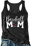 Baseball Mama Racerback Tank Tops for Women...