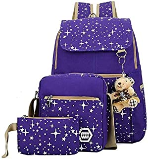 Three-piece backpack schoolbag set fashion waterproof cute children girls handbag crossbody bag