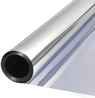 DUTISON Film Miroir Fenetre Adhesif Effet Miroir Anti Regard sans Tain pour Vitre Papier Miroir Anti Chaleur 99% Anti UV (...