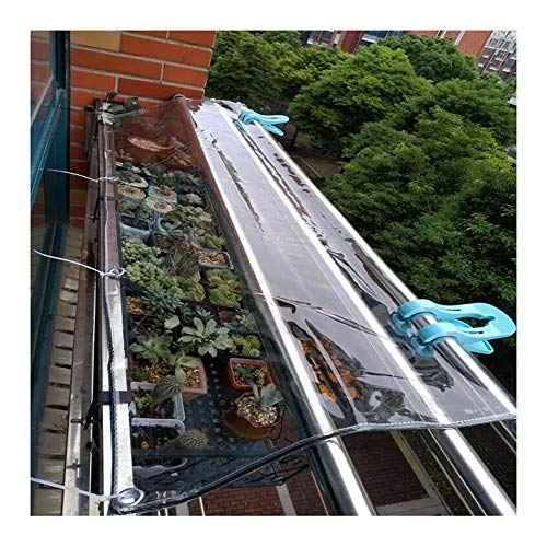 YONGQUAN Lona Transparente, Tela De PVC Engrosada Al Aire Libre, Tarea Pesada Tienda Balcón Impermeable Parabrisas Lona (Color : Clear, Size : 1.8×2m)