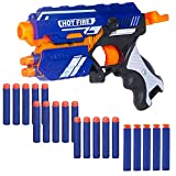 Toys and Game Foam Blaster Soft Bullet is a Toy Gun with Foam Bullet Darts for kids. Have a great shooting dart game with this Manual Soft Bullet Gun. Kids will love to fire soft foam bullets and hit imaginary targets. This gun is easy to operate - l...