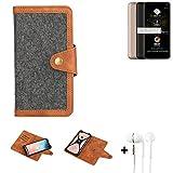 K-S-Trade Handy-Hülle + Kopfhörer Für Allview A9 Plus