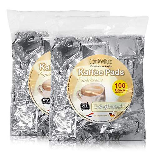 2x Cafeclub Entkoffeniert Kaffeepads Megabeutel je 100 stk. einzeln verpackt